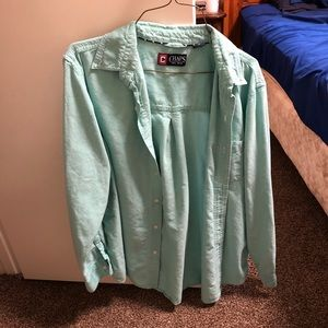 Chaps Mint Green Medium Button Down